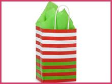 Colorful Stripy starbucks kraft paper bag