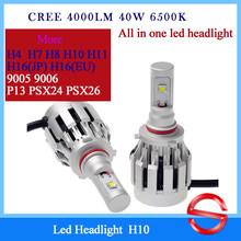 20w 40w Cree Led Headlight Bulb For Led Headlight universal size fit Toyota Honda Hyundai Kia and so on