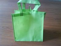 Green Color Cheap Non Woven PP Foldable Shopping Bag