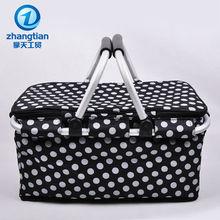 folding double handle aluminum picnic basket set shopping baskets for sale