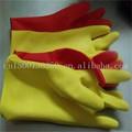flocado de microfibra de látex del hogar guantes de limpieza