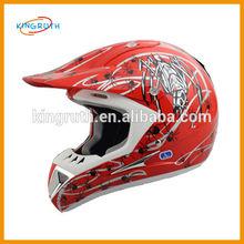 Full face dirt bike racing skull half face motorcycle helmet
