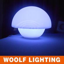 Pleasant Rechargeable Mushroom Pyramid Shape Table Illuminated LED Light