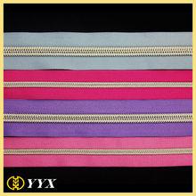 wholesale high quality fashion garments/bags long chain nylon zipper