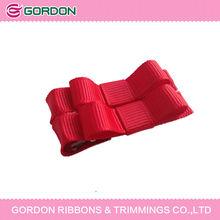 Red ribbon wrap hair clip