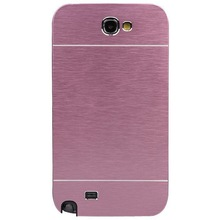 Ultra thin Anti Scratch Brush Metal Aluminum Hard Case for Samsung Galaxy Note 2 II N7100 Mobile Phone Bag Cover