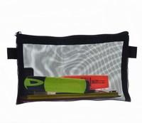 eco-friendly mesh stationary zipper pencil pouch