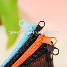 fabric durable plastic pencil box pencil case plastic pencil case with mesh with zipper for promotion and gift