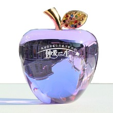 Crystal apple for Valentine's day, Christmas Gift, birthday present