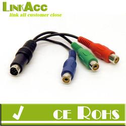 Linkacc-D3 3 RCA (female) to Multi-pin S-vedio Adapter
