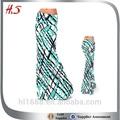 2014 caliente venta de corea larga falda de moda marcada impreso de alta cintura maxi largo modelos de falda