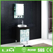 Embossing Logo Luxury Gift aluminium legs free standing bathroom cabinet