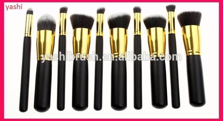 10 Pcs Short Handle Makeup