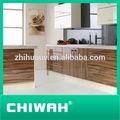 china fabricación de agitador de diseño de la puerta de color blanco de la cocina del gabinete