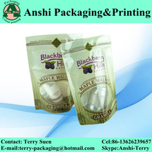 Stand up plastic airtight food pouch