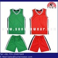 Barato reversible jerseys del baloncesto uniforme