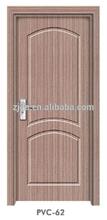 La puerta del mdf material de acabado y acabado de la superficie de mdf de la puerta del pvc en china( pvc- 62)