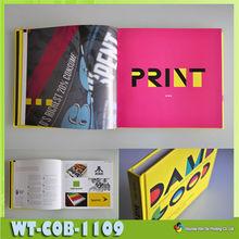 WT-COB-1109 Custom laminate book hardcover