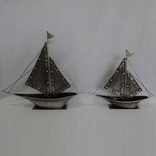 antique metal ship model