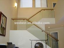 Elegant Glass Stairway Handrail System