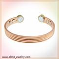 Venta al por mayor de alibaba moda de líneas de joyería del color primario del diseño de cobre pulsera magnética personalizada pulsera de cobre