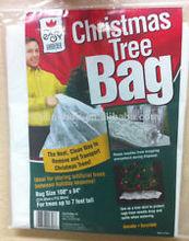 walmart Christmas Tree removal bag and Skirt degradable Green white
