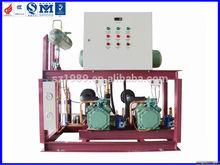 semi-hermetic piston compressor racks for flower cold storage