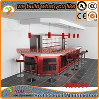 2014 Wine Red bar counter free design modular structure counter