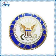 Hot selling wholesale cheap custom metal skull badge emblem from China manufacture
