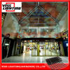 flexible led curtain display/ decorate ceiling led dispaly curved wall/ led tent