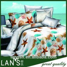 cotton bed sheets 3d bedding set