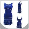 2014 high fashion striped dress,celebrity dress,elegant A-line bandage dress