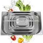 LFGB & NSF Approve Heavy Duty Stainless Steel gn pan kitchen king pro