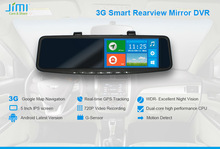 JiMi 2014 Newest 3G Smart Rearview Mirror DVR 5 inch android tablet pc 3g gps wifi