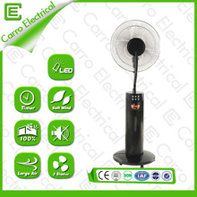 LCD 16 inch solar powered mist fan sports water mist spray fans with remote control