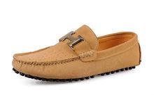2015 Flat slip-on latest design men driving custom moccasin loafer