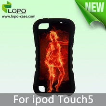 New Printable Blank Sublimation TPU 2in1 Case for ipod touch 5