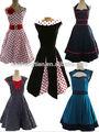 china fornecedor das mulheres estilo vintage 50s festa de formatura polka dots swing jive dança rockabilly pinup festa à noite vestido retro