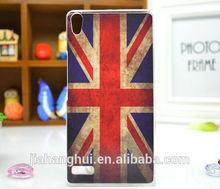 uk flag custom design uv printing phone case for huawei ascend p7