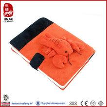 notebook with shrimp custom design Plush notebook factory