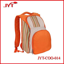 New type double shoulder travel orange 600D oxford picnic cooler bag for two people