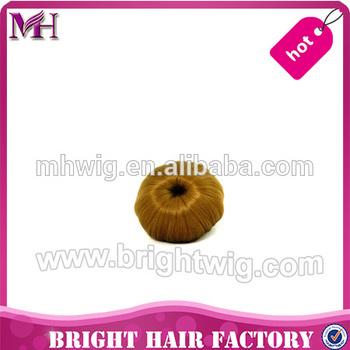 Hot sale Factory supply Fast shipping low price Top Grade Japan kanekalon black synthetic hair bun
