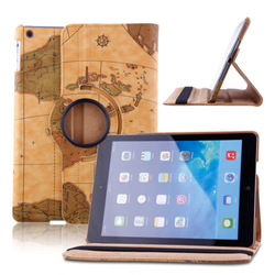 J1195 New 360 Rotating Folio Stand Smart PU Leather Case Cover For iPad Air 5th 5 Gen