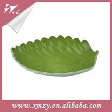 Green Tree Leaf Shape Cheap Porcelain Plate
