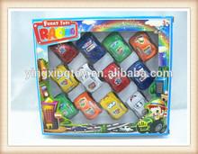 New product Kids plastic cheap cartoon mini pull back car toy