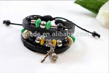 Spring And Summer Shining Design Cross Arrow Infinity Diy Braided Leather Bracelet