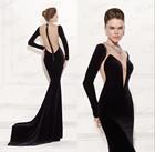 2015 Tarik Ediz Dress Ladies Party Wear Gown Elegant Sexy Long Sleeve Evening Dress Online Shopping