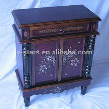 FD-VS2324 Hand made living room furniture wood cabinet corner flower design