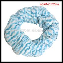 fashion blue stripe scarf tube scarf