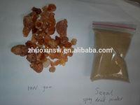 Sudan Seyal arabic tree raw gum and spray dried powder